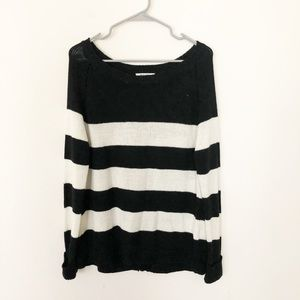 BB Dakota Striped Open Back Sweater